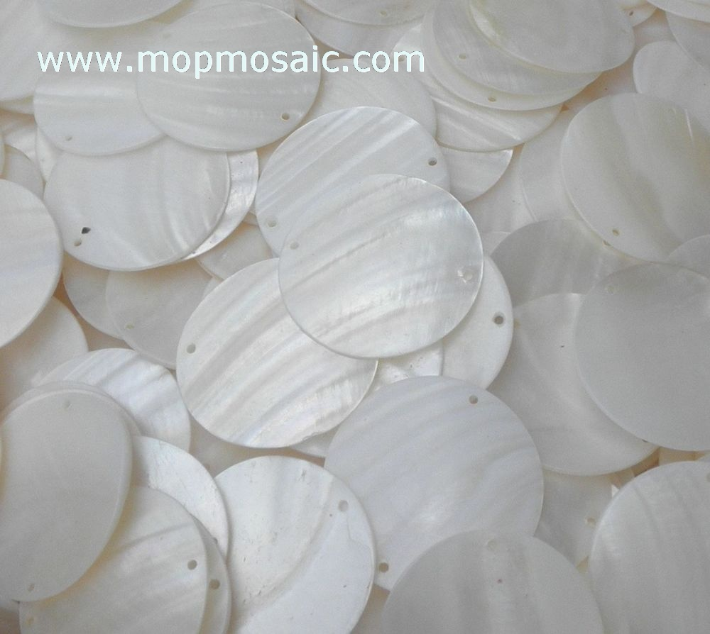 White mother of pearl shell tiles/shell chandelier accessory