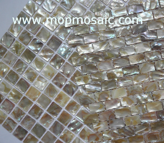 Rianbow dapple shell mosaic,mother of pearl mosaic