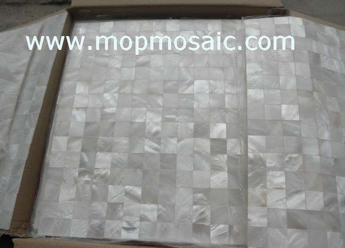 White shell mosaic,seamless mother of pearl mosaic