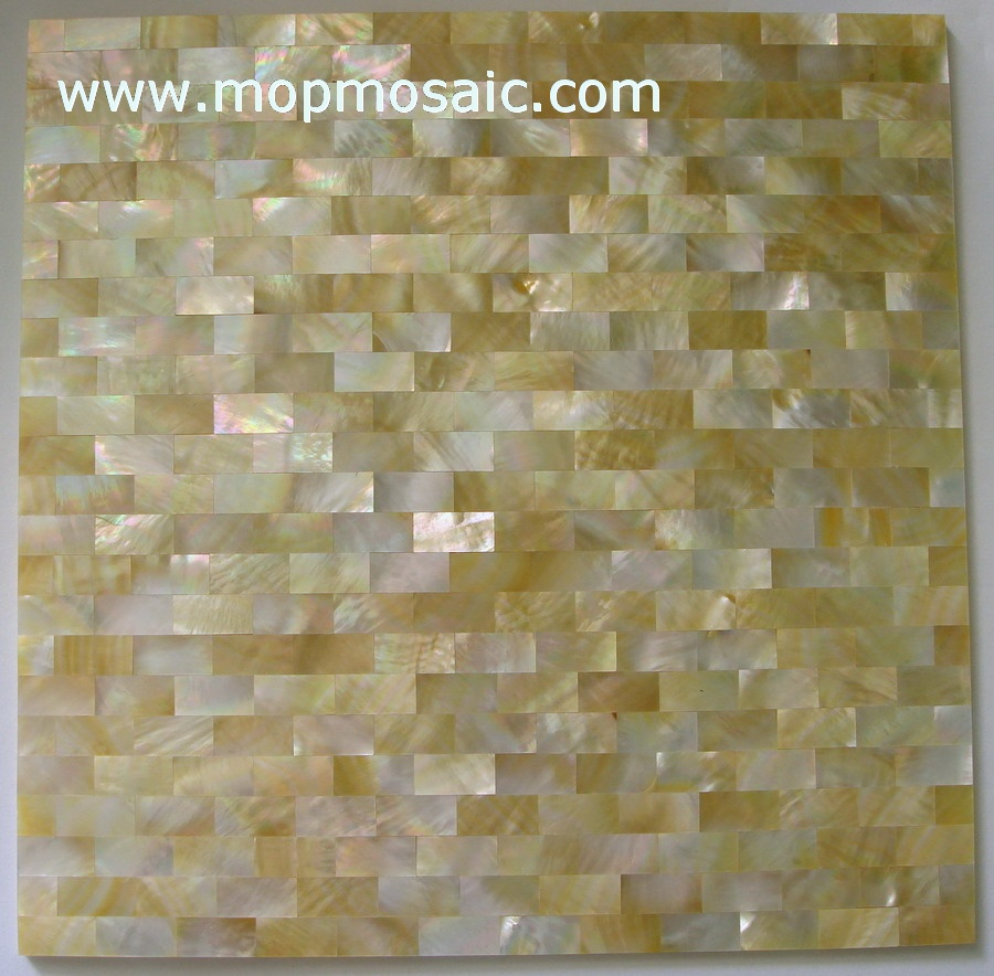 Brick yellowlip mother of pearl panel,yellowlip shell panel