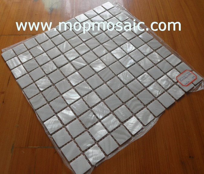 Super pure white mother of pearl shell mosaic