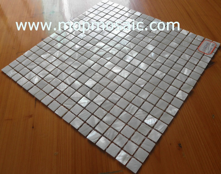 15X15mm Super pure white freshwater shell mosaic