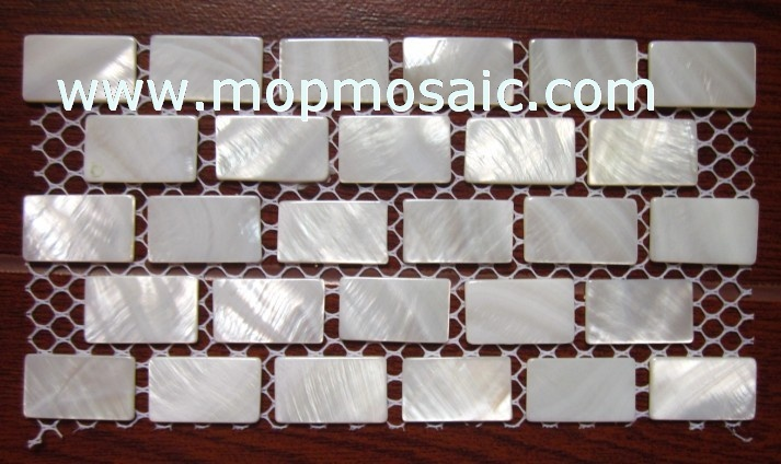 15*25mm Super pure white river shell mosaic