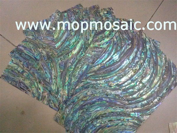 Abalone shell laminate in S style