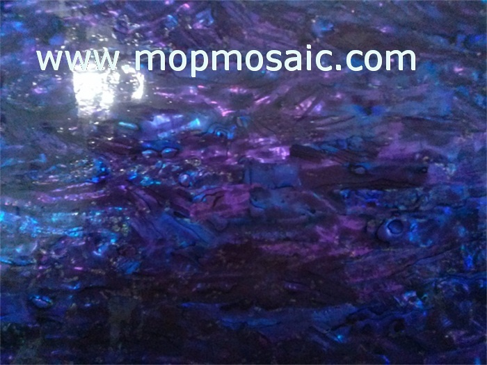 Dyed royal bule color abalone shell veneer