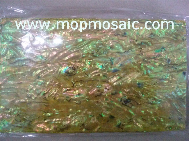 Dyed brown color abalone shell sheet
