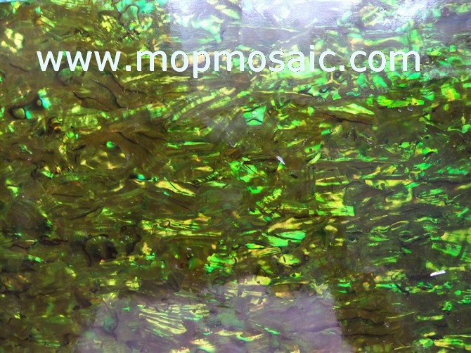 Dyed forest green paua shell laminate