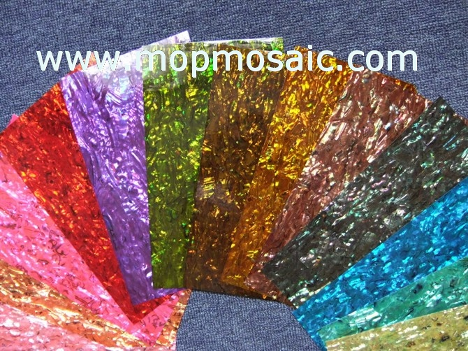 All kinds of dyed color abalone shell laminate