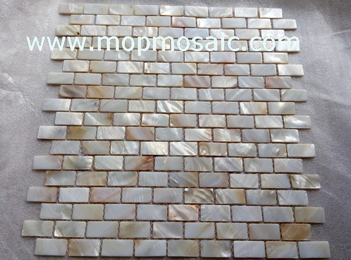 15x30mm natural mother of pearl mosaic