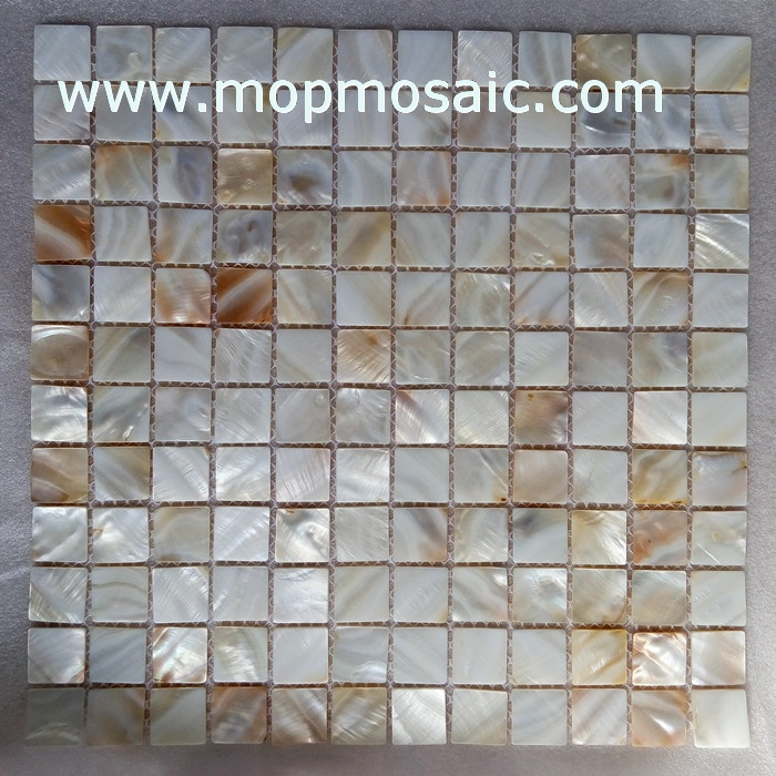 20x20mm natural freshwater shell mosaic