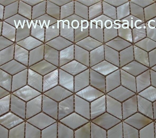 White mother of pearl mosaic