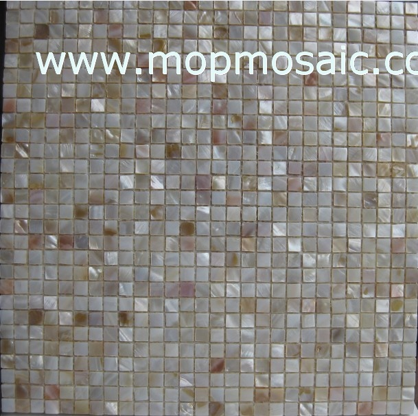 Natural mother of pearl mosaic