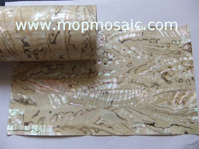 Transparent flexible Mexican abalone shell lamiante for fishing lures