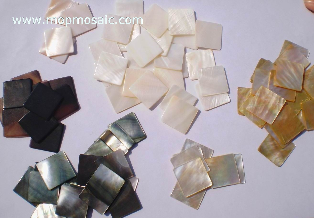 Mother of pearl shell tiles
