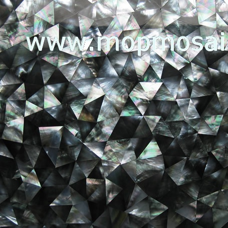 IrregularTriangle Blacklip Shell Tiles