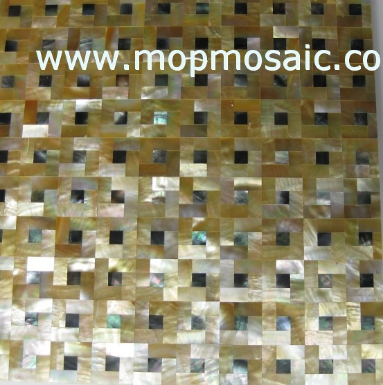 Yellow Mother of pearl  Shell Tiles
