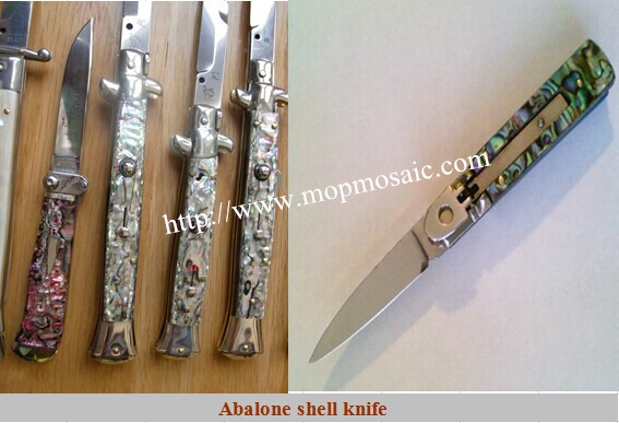 abalone shell knife