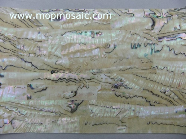 Transparent flexible Mexican abalone shell paper for fishing lures
